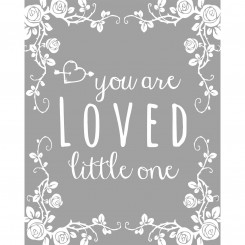 You are loved (jpeg file) 8x10